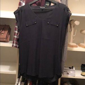 V neck silk blouse